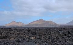 Lava field volcanic landscape Fire Mountains Lanzarote Canary Islands Spain Kuvituskuvat