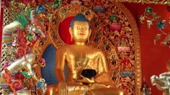 Kagyu Samye Ling Monastery and Tibetan Centre - Buddha Stock Footage