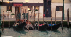 Timelapse of water transport and people in Venice Stock Footage