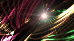 motion glowing multi-colored lines. computer graphics. - stock footage