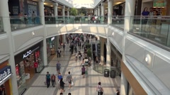 Stock Video Footage of Shopping - Mall - People - 09 - Passage and Balcony