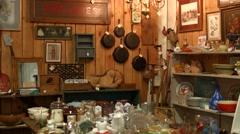 Antique Kitchen Supplies Stock Footage