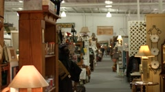 Antique Store Center Aisle Stock Footage
