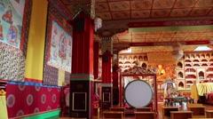 Kagyu Samye Ling Monastery and Tibetan Centre - inside monastery Stock Footage