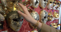 In the Mask Shop in Venice Stock Footage