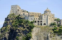 Stock Photo of Castello Aragonese castle Ponte Gulf of Naples Ischia Campania Italy Europe