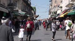 Mahane Yehuda Market in Jerusalem, Israel. Stock Footage