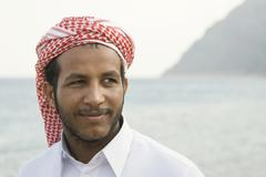 Portrait of a Bedouin young man from Dahab Sinai Egypt Africa - stock photo