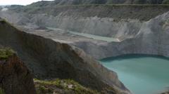 Chalk quarry in Belarus - stock footage
