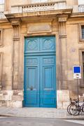 Exterior of a historical townhouse in Paris Stock Photos