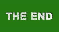 THE END. Animation Bumper Logo for Trailers. Powerful Titles with Effects on Stock Footage
