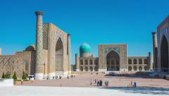 The proud of Samarkand Stock Footage