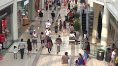 Shopping Mall People - 12 - Crowd in Passage Stock Footage