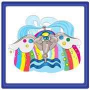 Aquarius - stock illustration