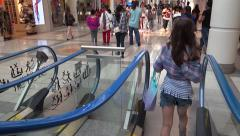 Shopping - Mall - People - 14 - Escalator and Passage Stock Footage