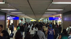 Passengers at Gru Airport in Sao Paulo, Brazil. Stock Footage