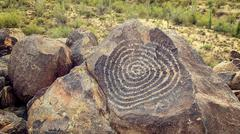 Native American Petroglyphs - stock photo