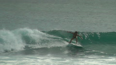 Slow Motion Riding The Surf  Wave Bali Stock Footage