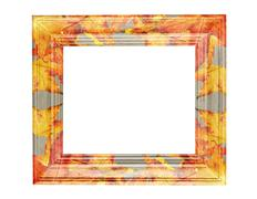 leaves frame - stock illustration