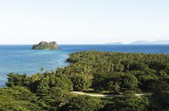 Stock Photo of South Pacific Vomo Island and Vomolailai Mamanuca Islands Fiji Oceania