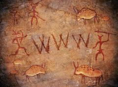 Prehistoric world wide web cave paint Stock Illustration