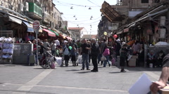 Stock Video Footage of Mahane Yehuda Market in Jerusalem, Israel