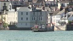 Kingswear to Dartmouth Lower Vehicle Ferry Across River Dart in South Devon Stock Footage