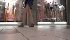Shopping Mall People - 16 - Passage, Vitrine, Mannequins Stock Footage