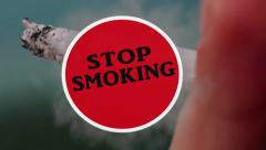 Stop smoking Animation Stock Footage