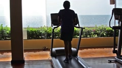 treadmill exercise - stock footage