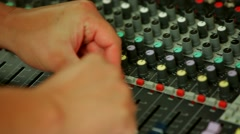 Professional Panel Of The Dj Stock Footage