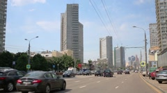 Cars on New Arbat street in Moscow, Russia. Stock Footage