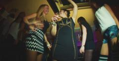 Feeling the fun of the nightlife on the dance floor Stock Footage