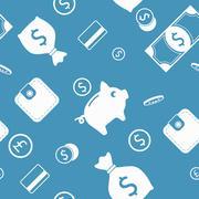 Money seamless background - stock illustration