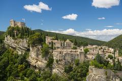 Old town Vaison la Romaine Vaucluse Provence Alpes Cote dAzur France Europe Stock Photos