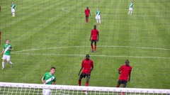 Players during match Senegal - Russia at Spartakovec stadium Stock Footage