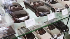 Miniature Mercedes cars. Mercedes company was founded in 1926 Stock Footage