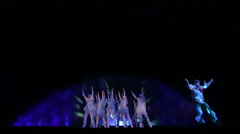 Theatrical performance on the ice - stock footage