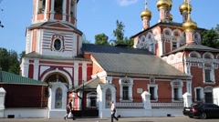 Church of Nativity in Izmailovo at spring sunny day. Stock Footage