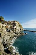 Stock Photo of Townscape UNESCO World Heritage Site Manarola Cinque Terre Liguria Italy Europe