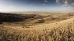 Hills and steppe landscape near Almaty Kazakhstan Asia - stock photo