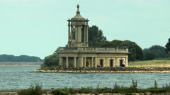 Normanton Church and visitors, Rutland Water. Stock Footage