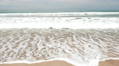 Close up surf ocean water on tropical beach, ambient noise Stock Footage