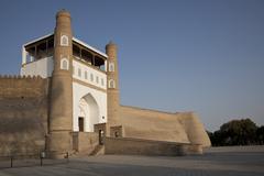 Ark of Bukhara citadel Bukhara Buxoro Silk Route Uzbekistan Asia Stock Photos