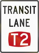 T2 Transit Lane In Australia Stock Illustration