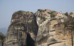 Meteora Monasteries UNESCO World Heritage Site near Kalambaka Thessaly Greece Stock Photos