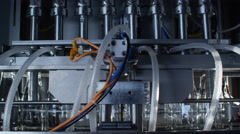 Milk factory bottling milk in glass bottles 8 Stock Footage