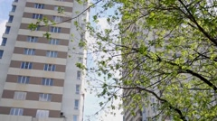 Highrise buildings of residential complex Elk Island. Stock Footage