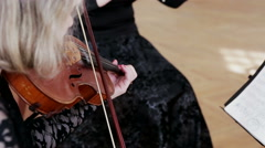 On Violin Concerto Stock Footage