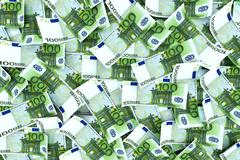 Euro money background - stock illustration